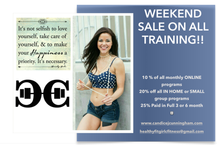 SAVE on ALL personal training with me through June 9th!